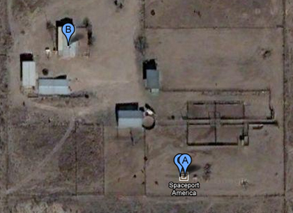 Spaceport America in Google Maps Satellite View in New Mexico