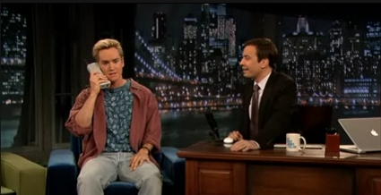 Zack Morris and the Zack Morris Phone on Jimmy Fallon